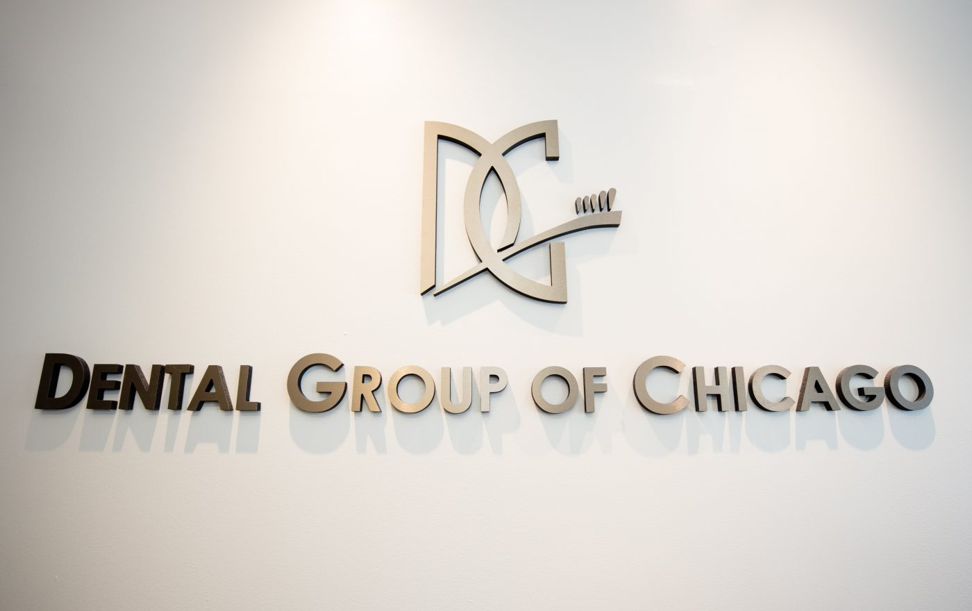 Dental Group of Chicago Logo on the Wall